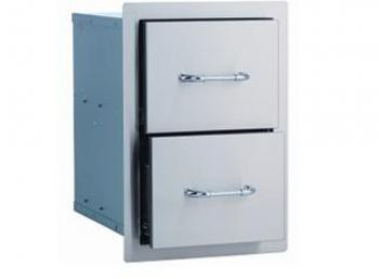 Bull Double Drawer for Outdoor Kitchen, Stainless Steel