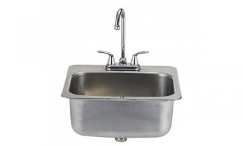 Bull Large Stainless Steel Sink with Faucet for Outdoor Kitchen